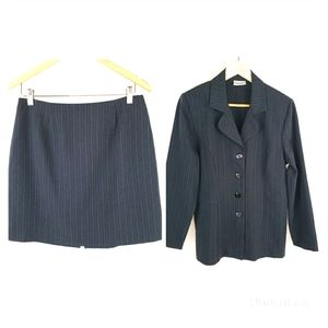 Dark Gray Fashion Bug blazer and skirt size 12